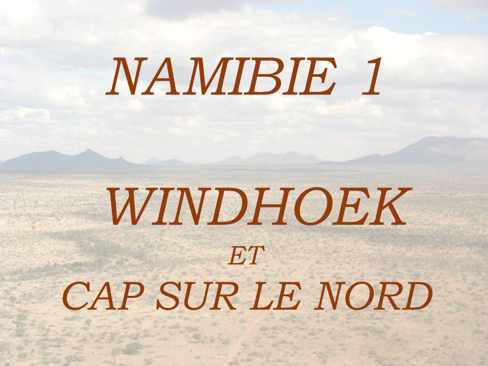 NAMIBIE 1 WINDHOEK ET CAP SUR LE NORD