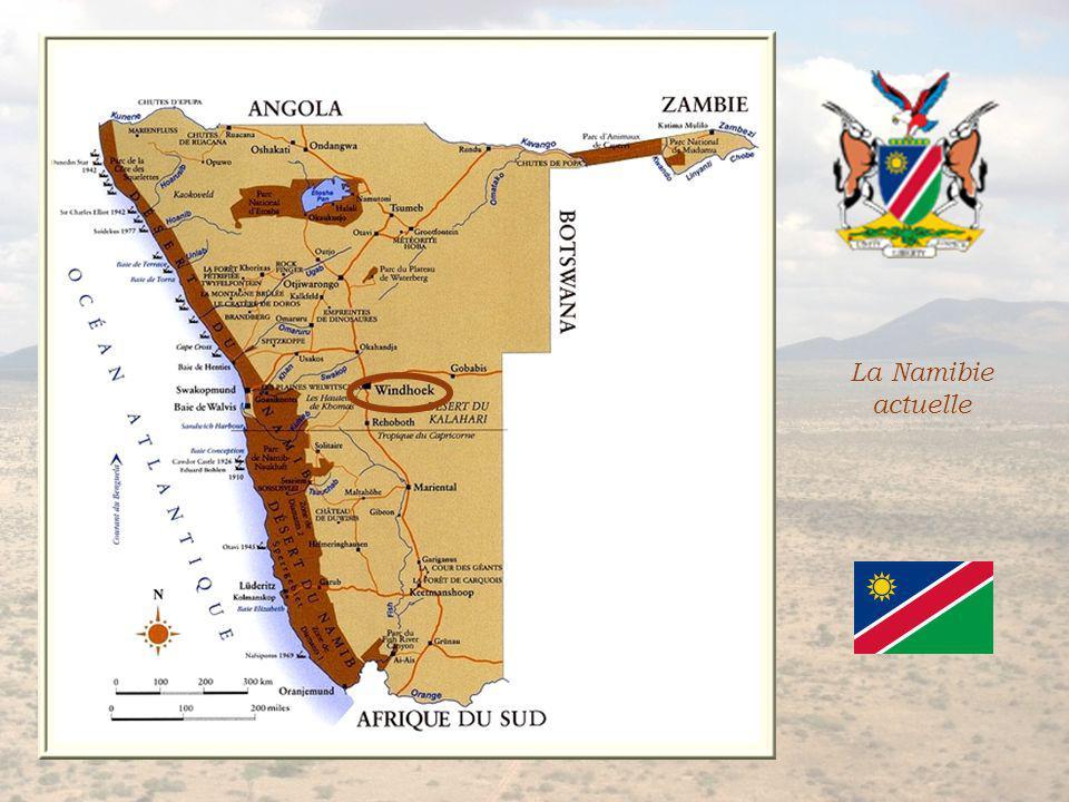 Durant la première guerre mondiale, des troupes sud-africaines occupèrent la colonie allemande et le traité de Versailles de 1919 fit passer le pays sous mandat sud-africain.