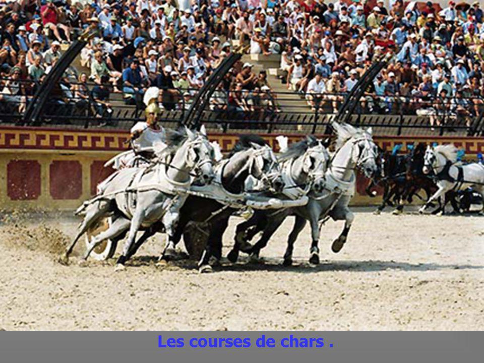 Les joutes à cheval.