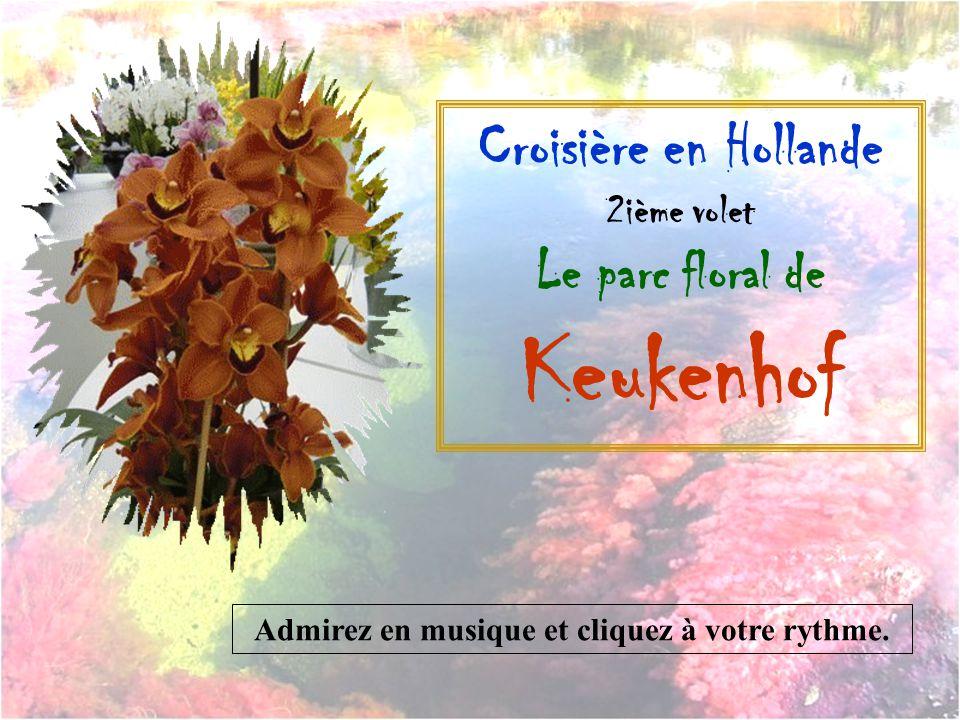 Croisière en Hollande 2ième volet Le parc floral de Keukenhof Admirez en musique et cliquez à votre rythme.
