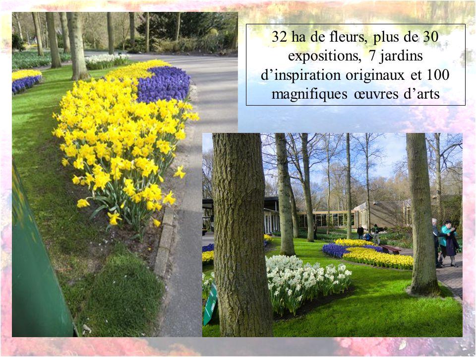 32 ha de fleurs, plus de 30 expositions, 7 jardins dinspiration originaux et 100 magnifiques œuvres darts
