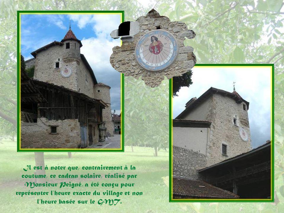Le blason des Prunier de Saint-André se définit ainsi :« De gueules, à la tour donjonnée et crénelée dargent, maçonnée de sable ».