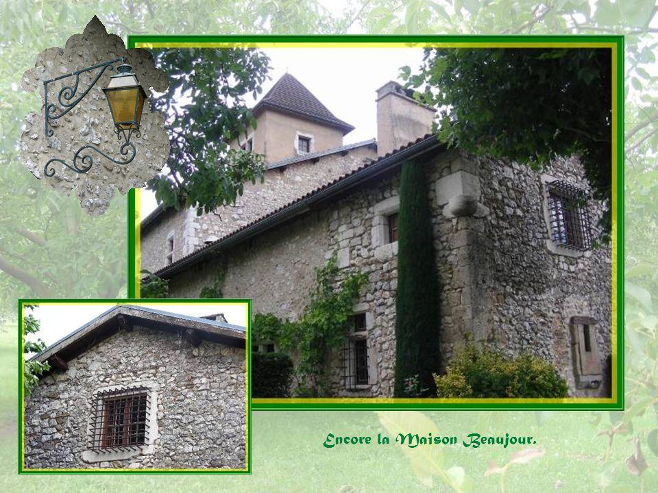 Détails de la Maison Beaujour dont une belle porte à fronton triangulaire datant du XVIe siècle.