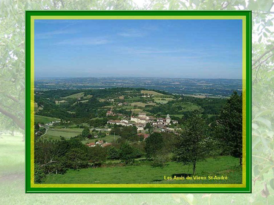 Perché au milieu de collines verdoyantes, le village apparaît entouré dimmenses noyeraies.