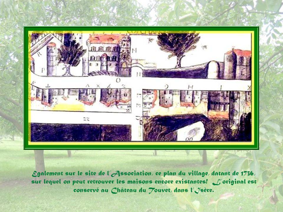 Egalement sur le site de lAssociation, ce plan du village, datant de 1736, sur lequel on peut retrouver les maisons encore existantes.