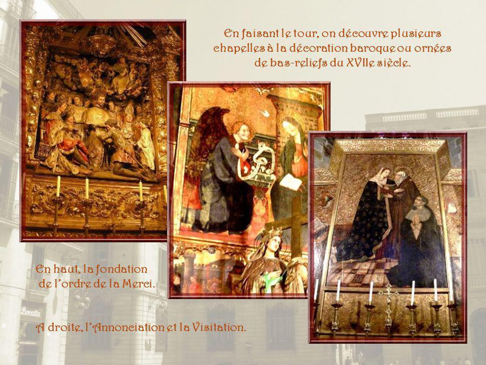 La crypte contient les ossements de sainte Eulalie dans un sarcophage en albâtre datant du XIVe siècle, reposant sur huit colonnes. Dessinée par Jaime