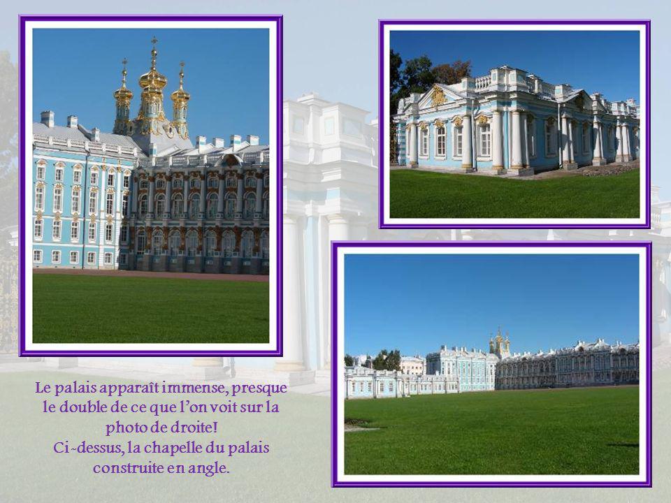 En arrivant, nous passons devant cette ancienne annexe du palais Catherine. En 1811, un lycée y fut ouvert. Ce fut lun des établissements scolaires le