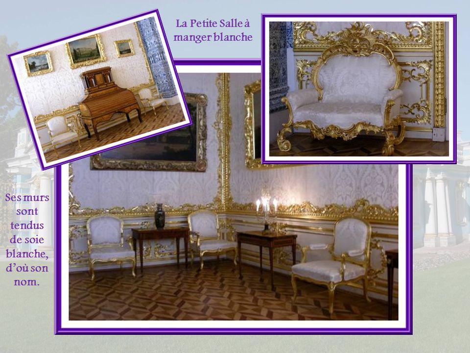 Typique de la décoration du début du XVIIIe siècle, la Salle des Tableaux a pour principal décor, la peinture qui forme une sorte de tapisserie!