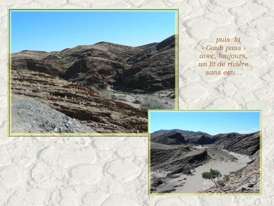 Nous traverserons le Kuiseb Canyon et sa rivière asséchée…