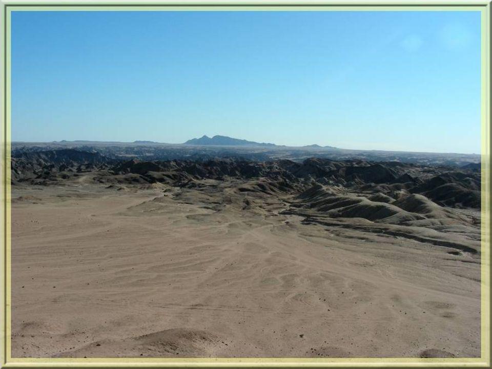 Pour le moins cocasse dans cette étendue désertique… On y découvre le point de vue suivant…