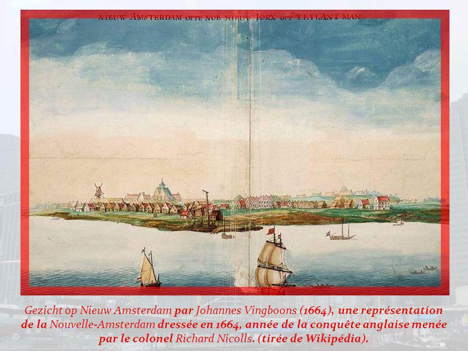 A lemplacement de la ville de New York vivaient, avant la colonisation, plusieurs tribus dIndiens qui subsistaient grâce à la chasse, la pêche et la culture : maïs, courge, tabac… Le premier Européen à atteindre ce lieu fut le Florentin Giovanni Da Verrazano, au nom de François Ier, en 1524.