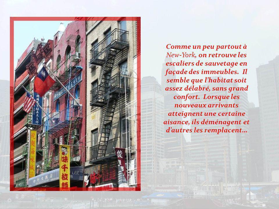 Chinatown constitue une enclave ethnique dans le sud de Manhattan.