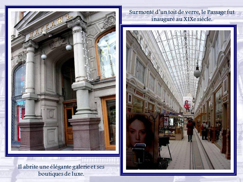 La perspective Nevski est la principale artère de la ville.