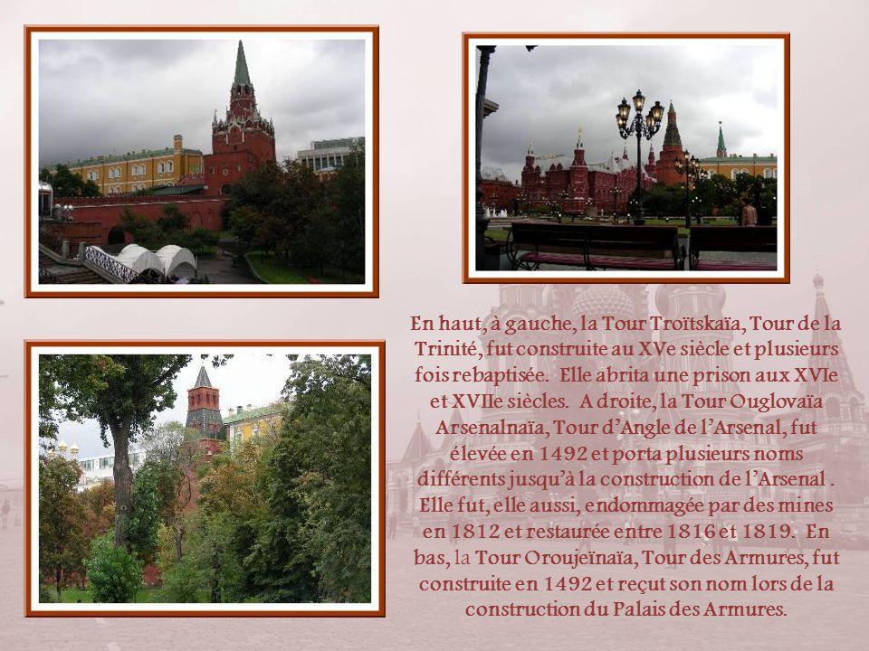 Abandonnant la Place Rouge et poursuivant le tour du Kremlin (dont le pourtour mesure 2, 200 km), nous arrivons au bord de la Moscova. Le nom de la to