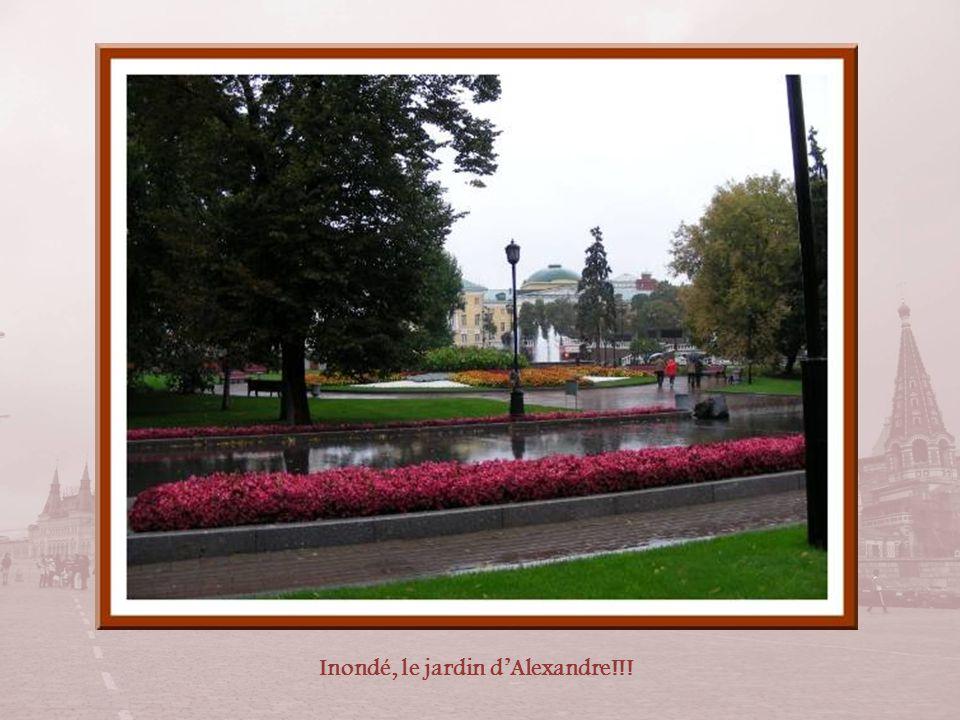 Dans le jardin dAlexandre, bordant le mur du Kremlin, la tombe du Soldat inconnu. Réalisé en granit rouge, le mémorial est orné d'une sculpture en bro