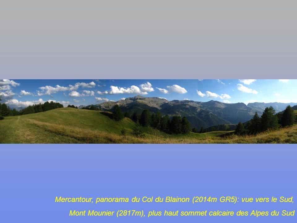 En descendant du Col du Fer et du Collet de Tortisse (2591m), vue vers lEst