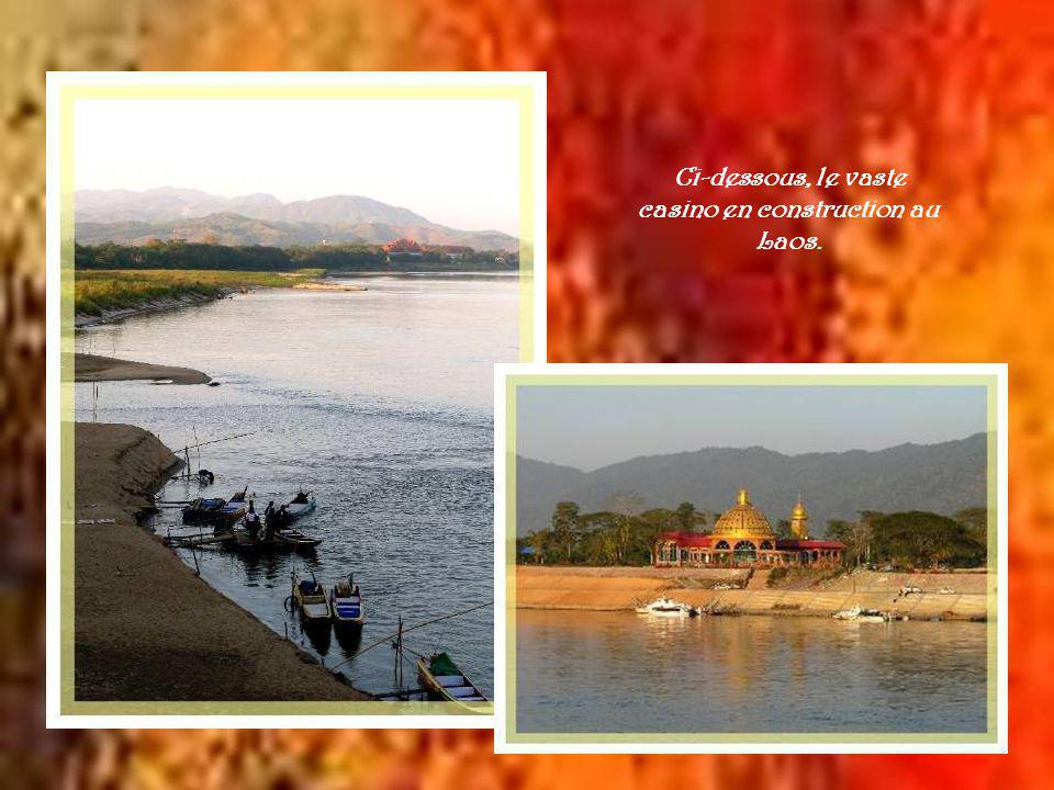 Vue densemble : à gauche, le Myanmar, à droite, le Laos.
