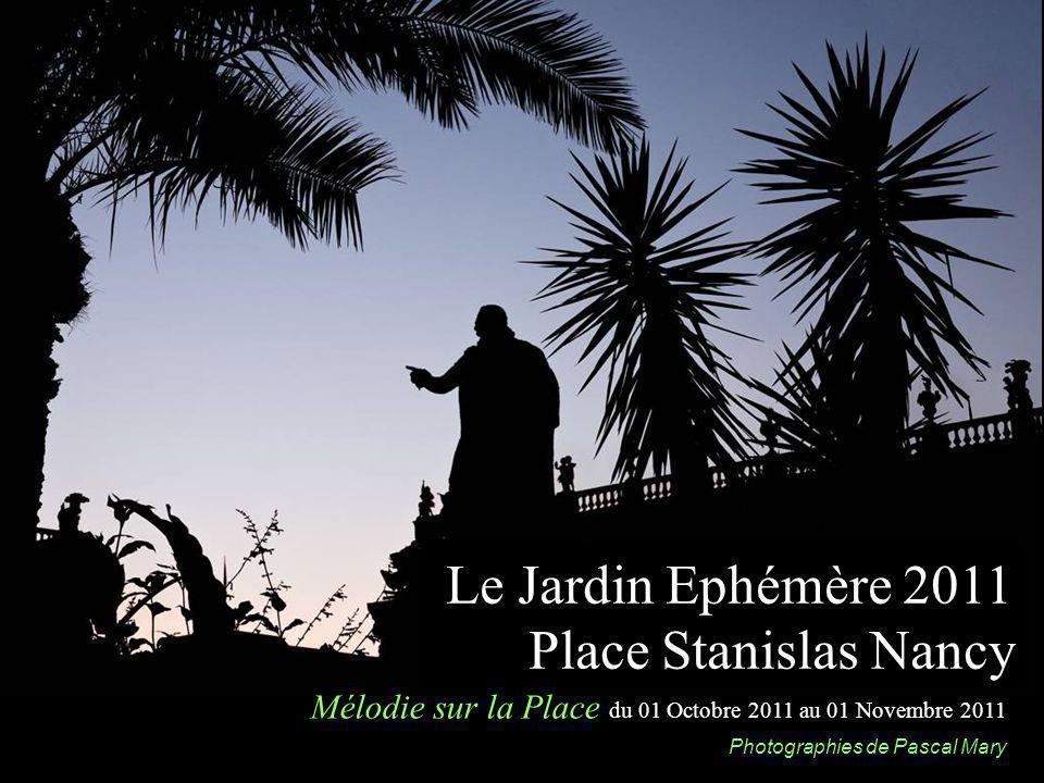 Le Jardin Ephémère 2011 Place Stanislas Nancy Mélodie sur la Place du 01 Octobre 2011 au 01 Novembre 2011 Photographies de Pascal Mary