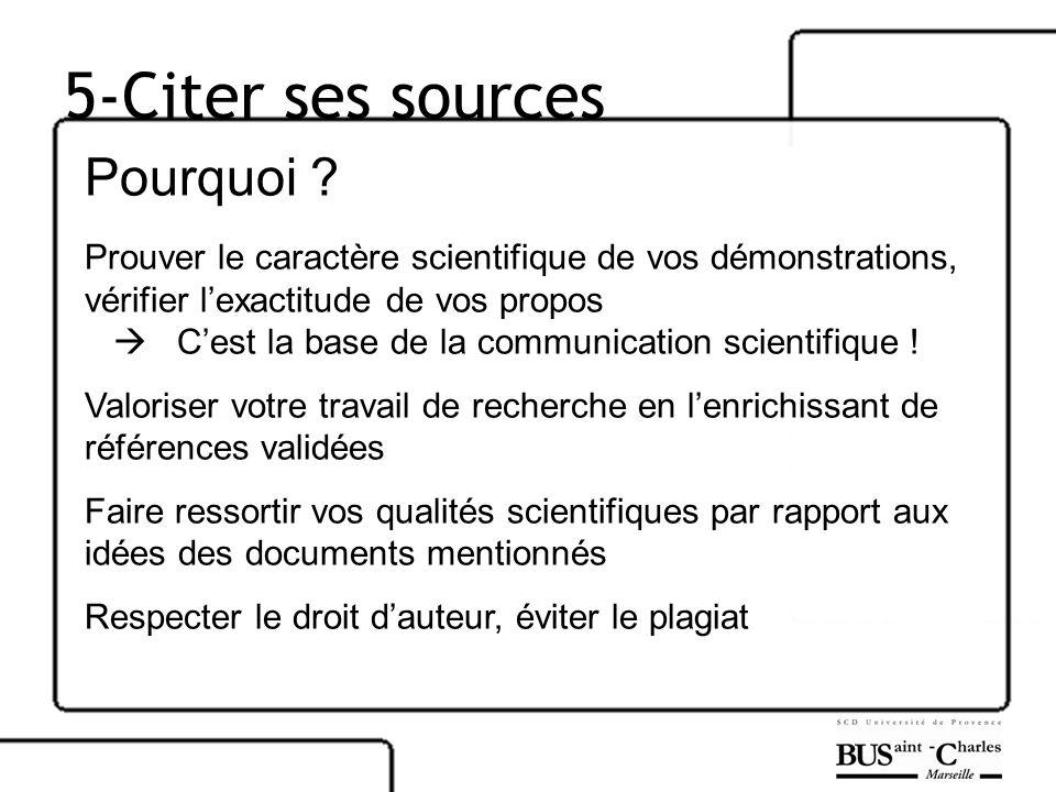 5-Citer ses sources Pourquoi .