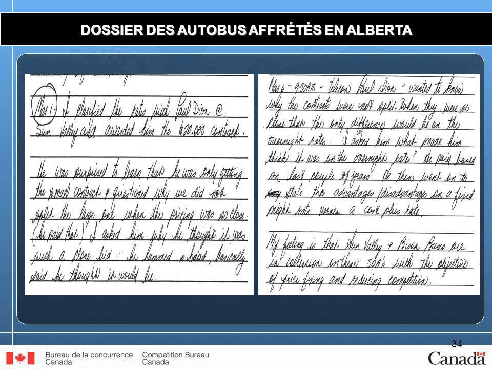 34 DOSSIER DES AUTOBUS AFFRÉTÉS EN ALBERTA