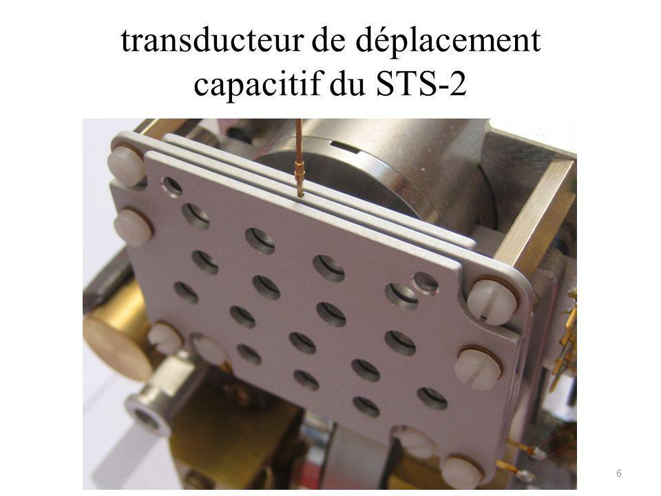 transducteur de déplacement capacitif du STS-2 6
