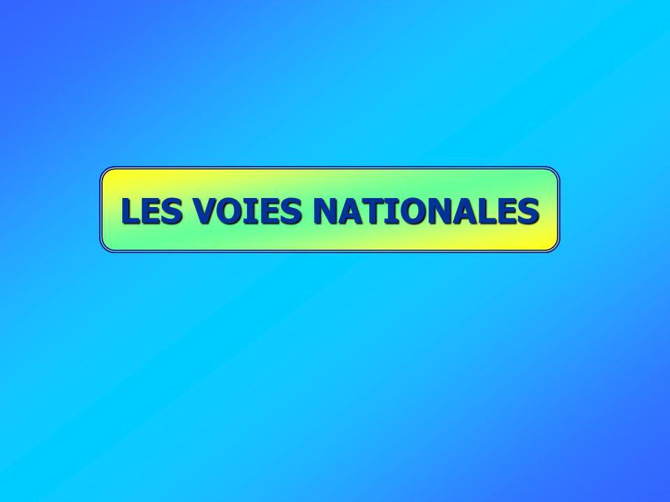 LES VOIES NATIONALES