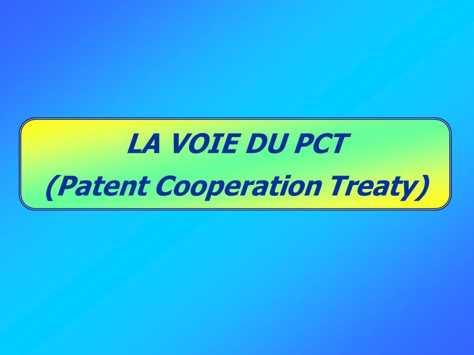LA VOIE DU PCT (Patent Cooperation Treaty)