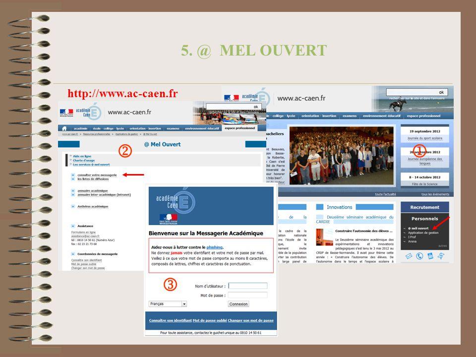 5. @ MEL OUVERT http://www.ac-caen.fr