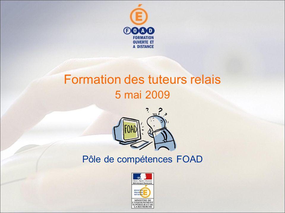 5 mai 2009 Pôle de compétences FOAD Formation des tuteurs relais