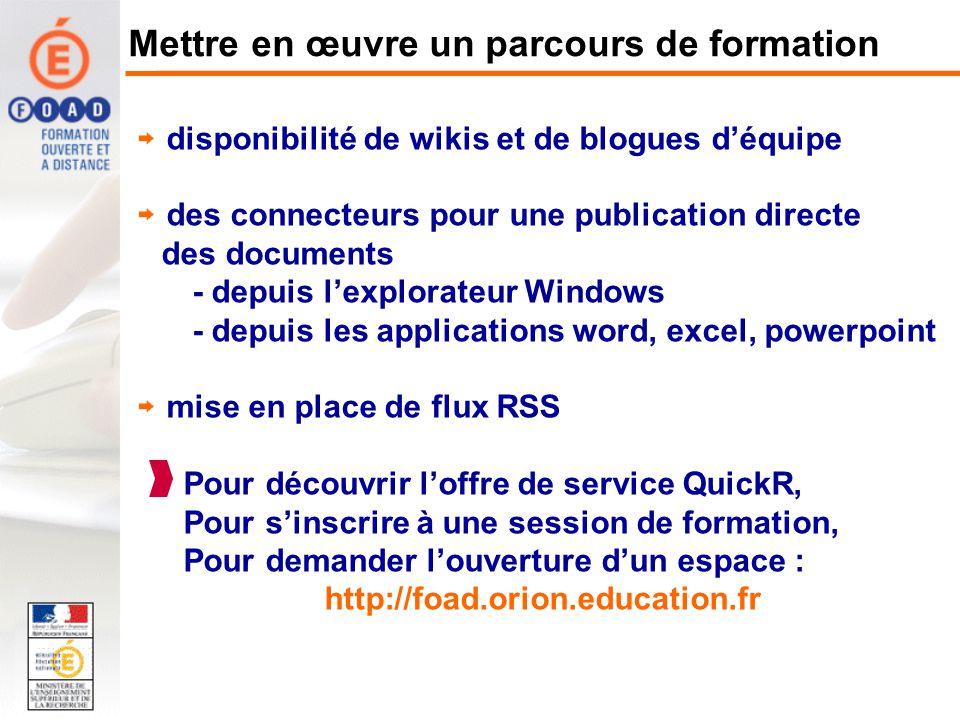 disponibilité de wikis et de blogues déquipe des connecteurs pour une publication directe des documents - depuis lexplorateur Windows - depuis les app