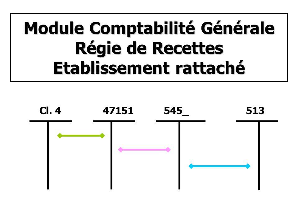 Module Comptabilité Générale Régie dAvances Agence Comptable 531 et/ou 5112 452_