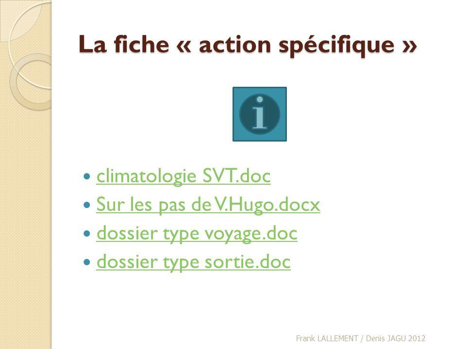 La fiche « action spécifique » climatologie SVT.doc Sur les pas de V.Hugo.docx dossier type voyage.doc dossier type sortie.doc Frank LALLEMENT / Denis