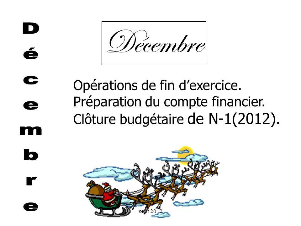 Réunion de préparation du budget avec lordonnateur. Préparation du budget + conseil dadministration + vote + transmission (exécutoire au 1er janvier !