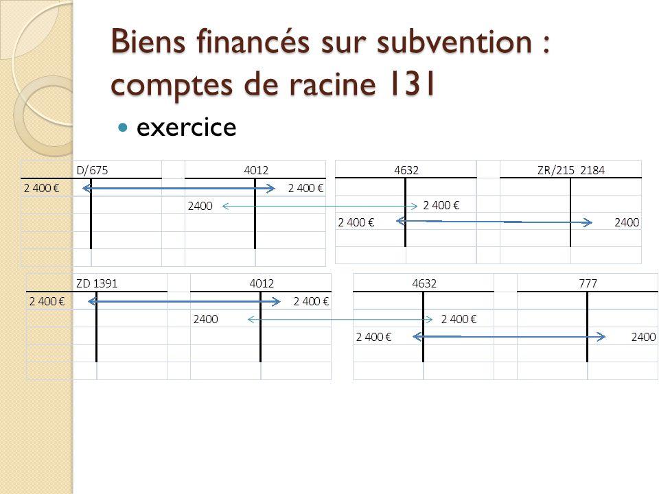 Les sorties dinventaire et le COFI Cette écriture rétablit l équilibre classe 1 / classe 2.
