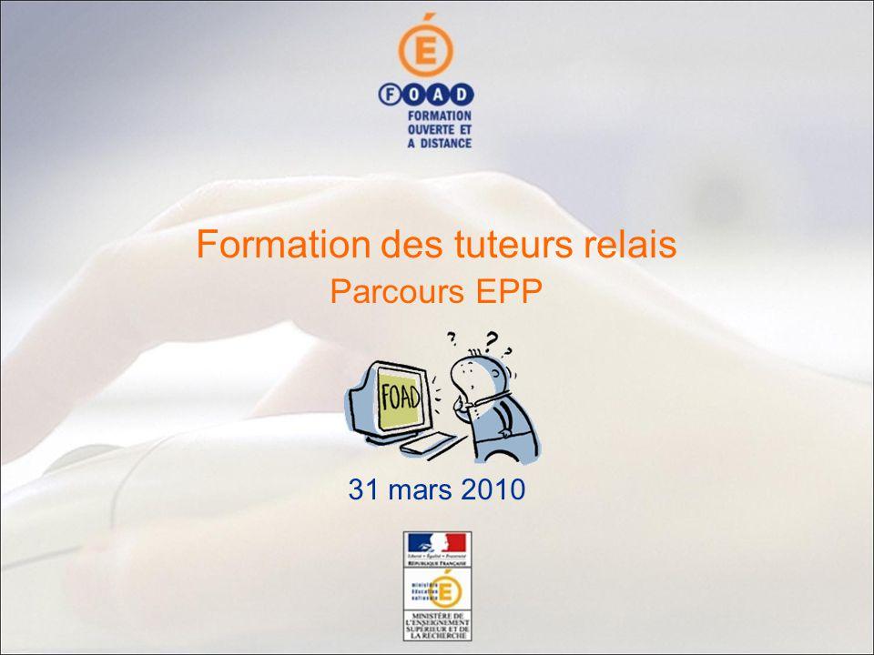 Parcours EPP 31 mars 2010 Formation des tuteurs relais