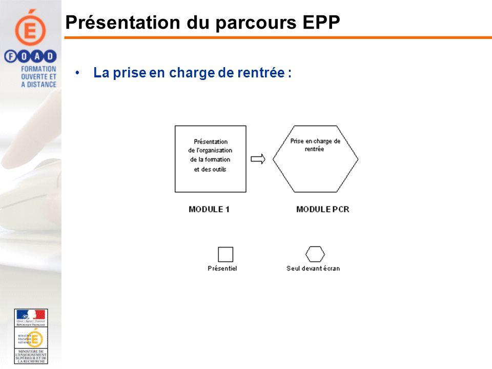 La prise en charge de rentrée : Présentation du parcours EPP