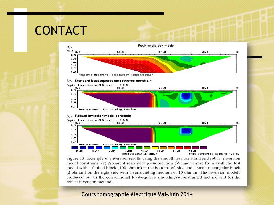 Cours tomographie électrique Mai-Juin 2014 CAS 1