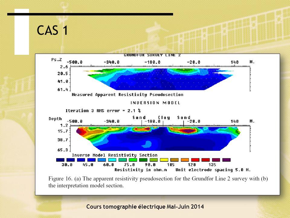 Cours tomographie électrique Mai-Juin 2014 CAS 2: DYKE