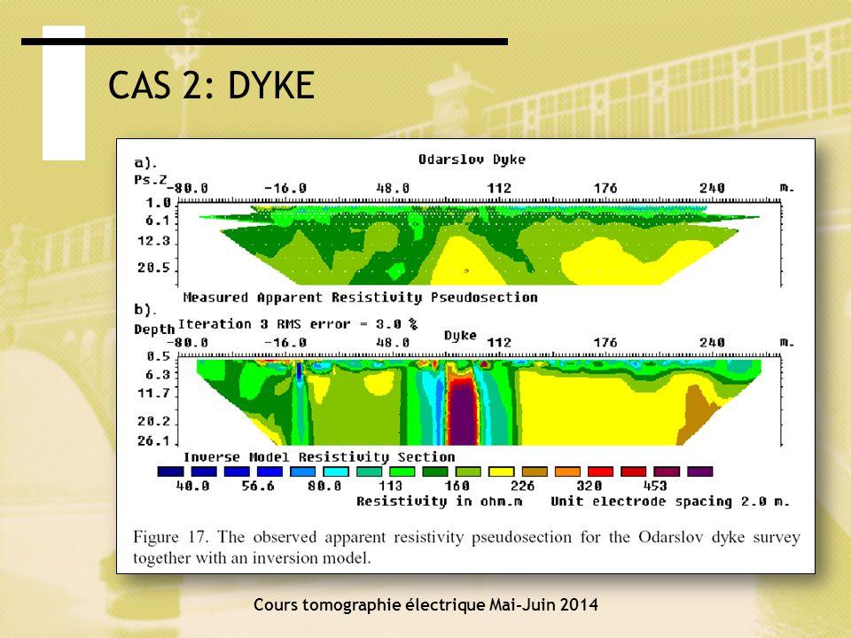 Cours tomographie électrique Mai-Juin 2014 CAS 3: CONTAMINATION