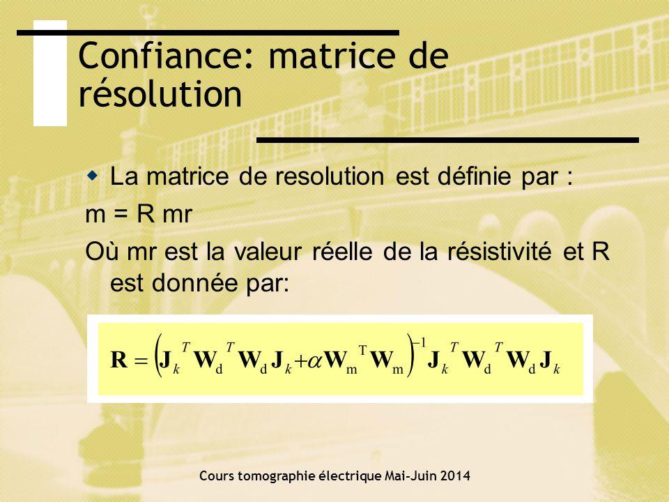 Confiance: DOI Cours tomographie électrique Mai-Juin 2014