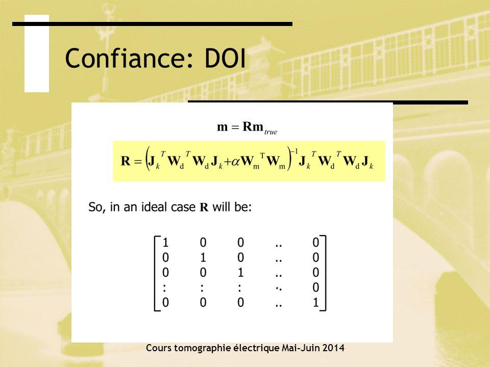 Confiance Cours tomographie électrique Mai-Juin 2014