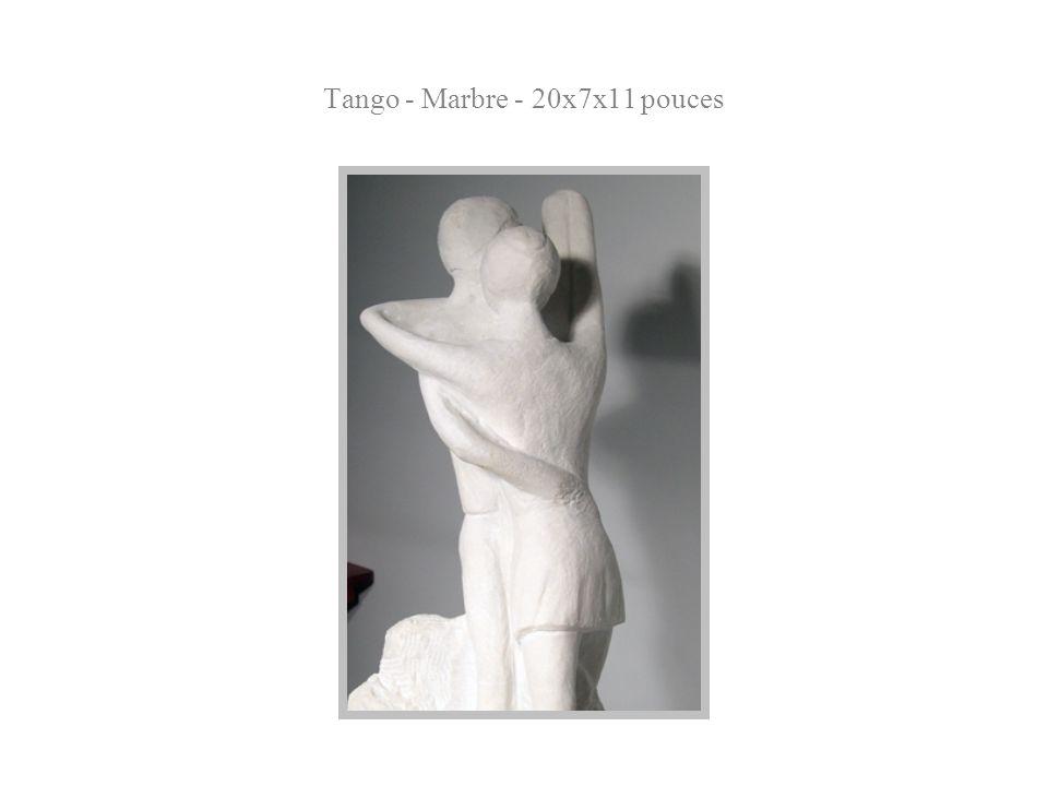 Tango - Marbre - 20x7x11 pouces