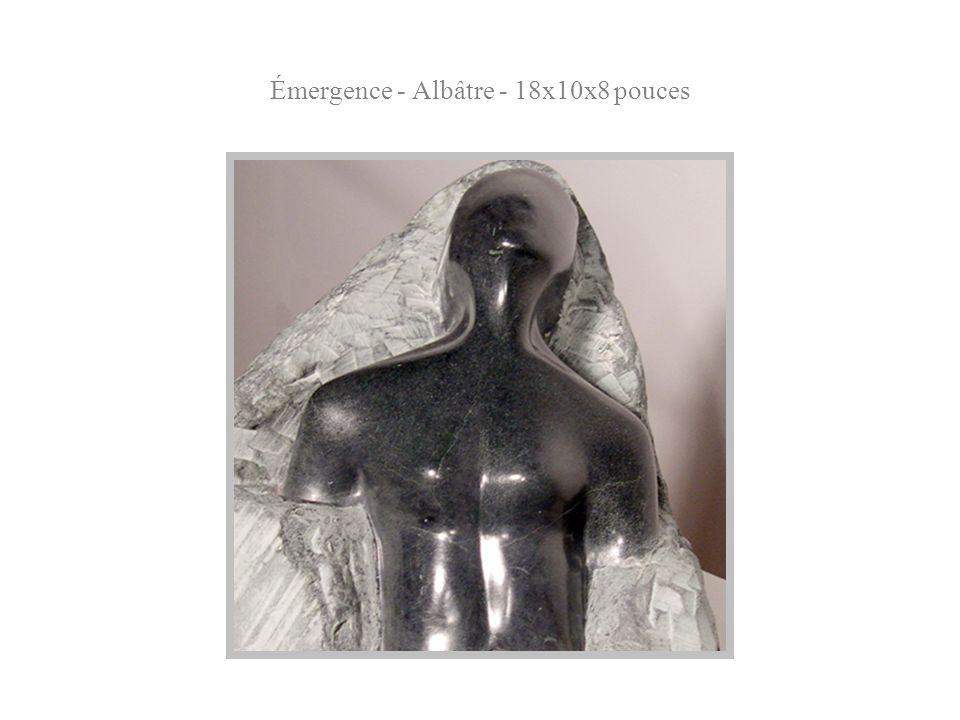 Émergence - Albâtre - 18x10x8 pouces