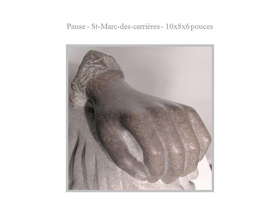 Pause - St-Marc-des-carrières - 10x8x6 pouces