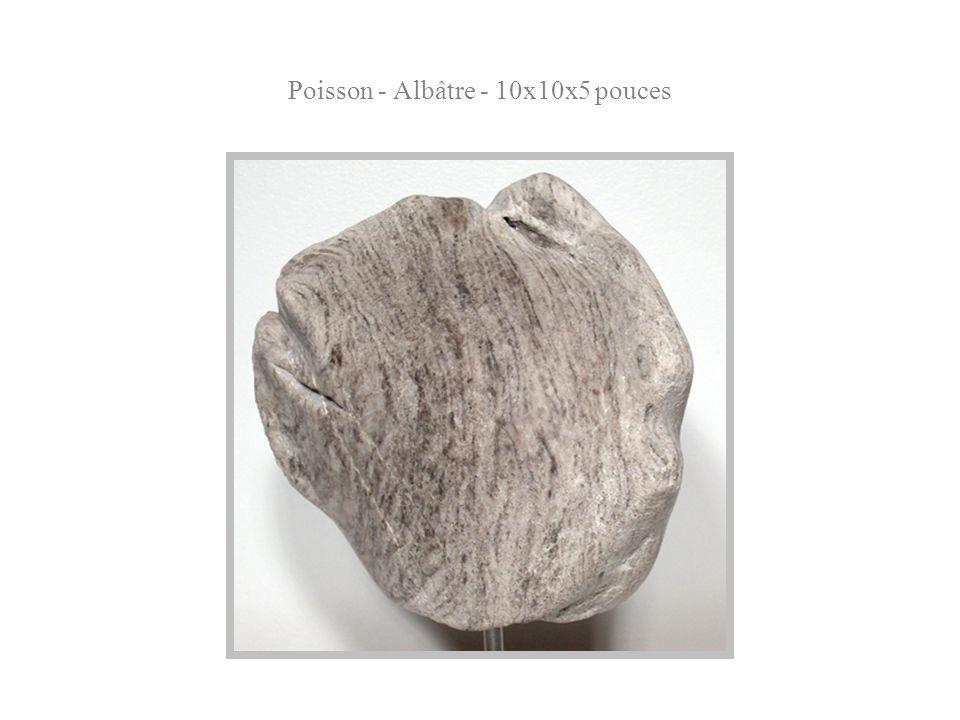 Poisson - Albâtre - 10x10x5 pouces