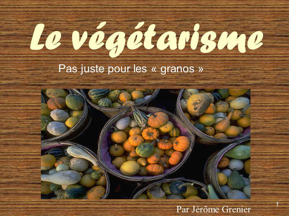 2 Au programme 1.Quest-ce que le Végétarisme. 2. Histoire du végétarisme 3.