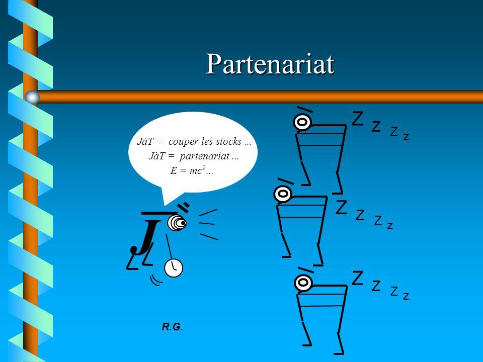 Partenariat J JàT = couper les stocks... JàT = partenariat... E = mc 2... R.G. Z Z Z z Z Z Z z Z Z Z z