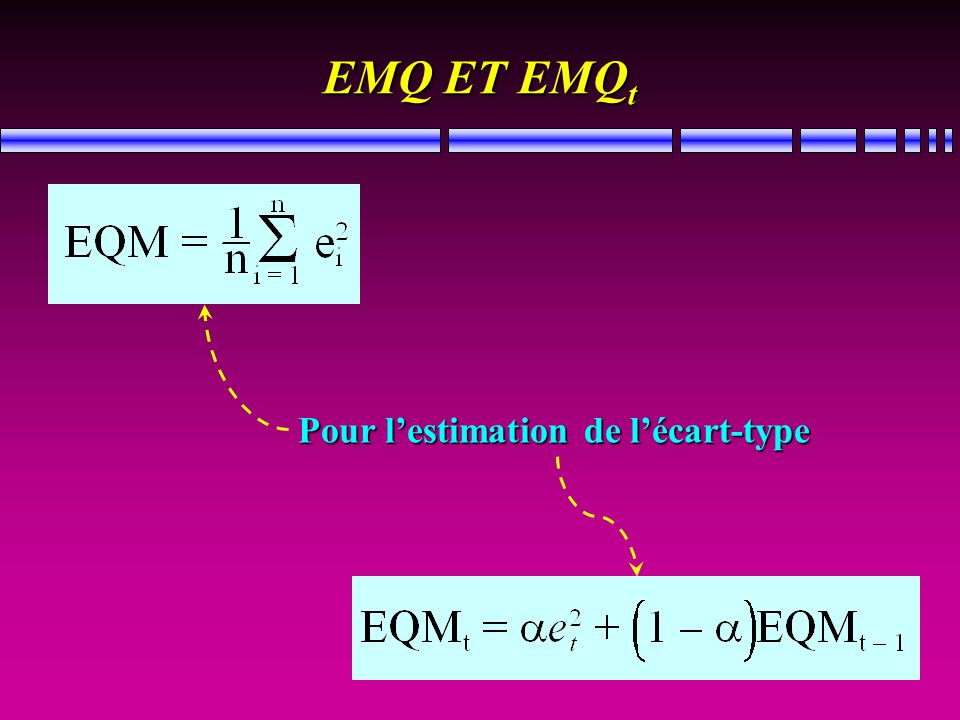 EMQ ET EMQ t Pour lestimation de lécart-type