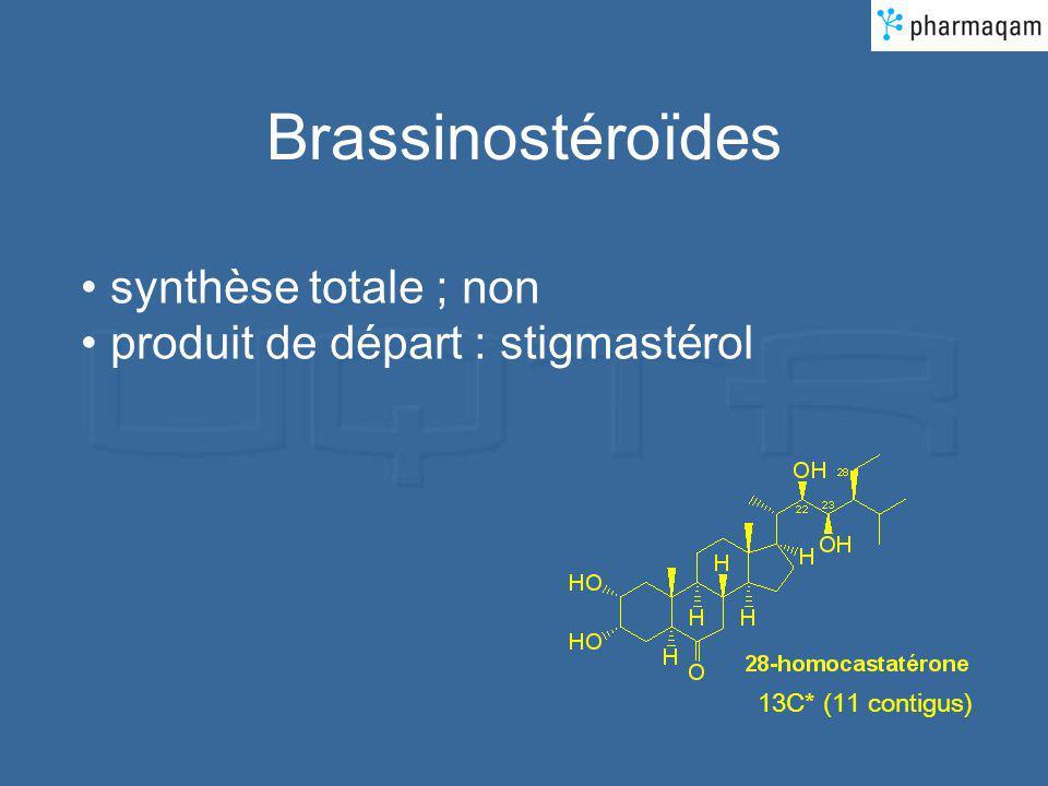 Brassinostéroïdes synthèse totale ; non produit de départ : stigmastérol 13C* (11 contigus)