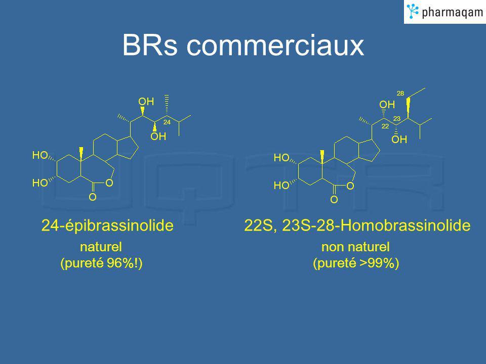 BRs commerciaux 22S, 23S-28-Homobrassinolide naturel (pureté 96%!) non naturel (pureté >99%) 24-épibrassinolide 24 22 23 28